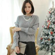 Round Neck Tassel Sweater