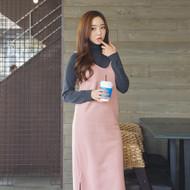 Brushed-Fleece Long Jumper Dress