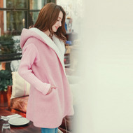 Wool Coat With Knit Sleeves