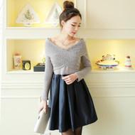 Long Sleeve Cross Front Dress