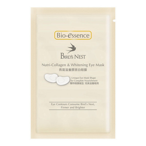 Bio-Essence Bird's Nest Nutri-Collagen & Whitening Eye Mask 3PCS