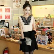 Classic Lace Stitching Sleeveless Dress
