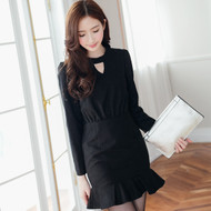Lady Black Wool Dress