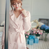 Lace Trim Trench Coat