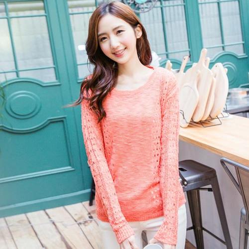 Bright Color Knit Top