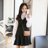 Sleeveless Dual Pocket Pleated Dress