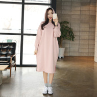 Hooded Midi Pullover Dress