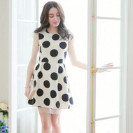 Layered Gauze Polka Dot Dress