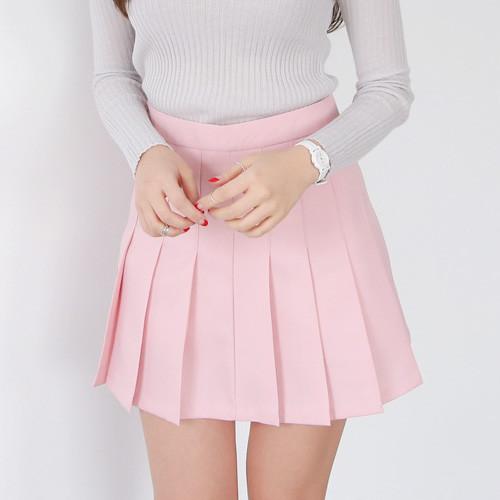 a line mini pleated skirt strawberrycoco