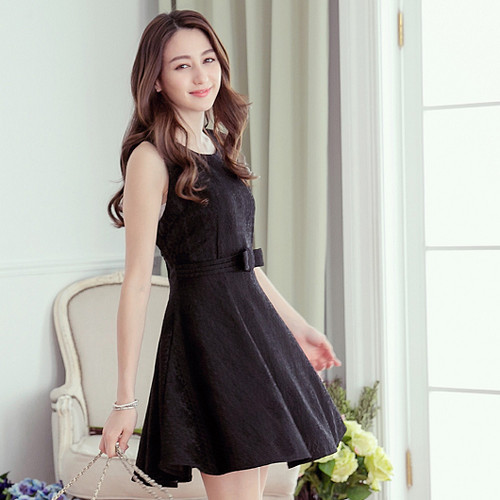 Lady Lace Print Dress