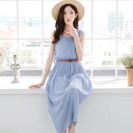 Round Neck Sleeveless Maxi Dress