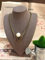 Chain Necklace with Pearl