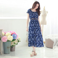 Lace Flower Maxi Dress