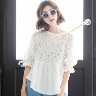 Hollow Lace Blouse