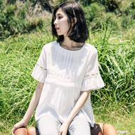 Umbrella Hem Lace Blouse