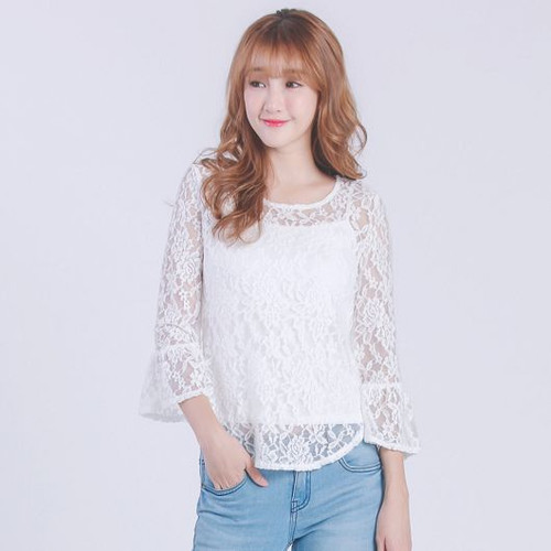 Lotus Lace Sleeve Top