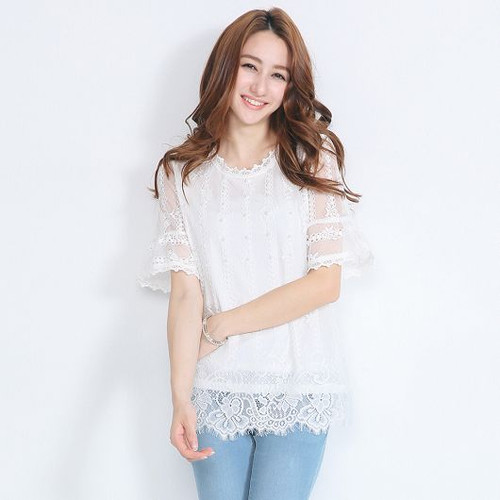 Beads Lace Blouse