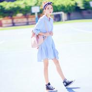 Stripe Shirt-Style Dress