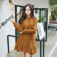 Ruffled Hem Mini Dress