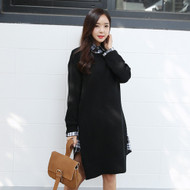 Simple Knit Sweater Dress