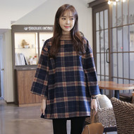 Tartan Check Loose Mini Dress