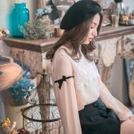 Transparent Lace Sleeve Blouse