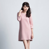 Embossed Cotton Dress