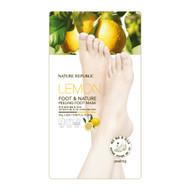 NATURE REPUBLIC Lemon Foot & Nature Peeling Foot Mask 25gx2each
