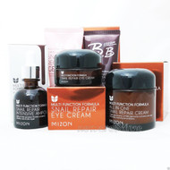 MIZON All In One Snail Cream + Ampoule + Eye Cream + Gel Cream + BB Cream Set