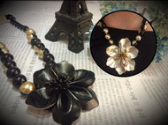 Stylish Beads and Flower Necklace