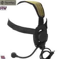 AIRSOFT TOMTAC BOWMAN EVO III 3 HEADSET BOOM MIC BLACK SWAT HELMET RADIO UK Z