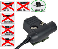 AIRSOFT TOMTAC U94 PTT BLACK 2 WAY RADIO SWITCH SORDINS COMTAC MIDLAND 2 PIN