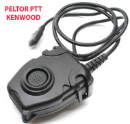 AIRSOFT TOMTAC PELTOR PTT BLACK 2 WAY RADIO SWITCH SORDINS COMTAC KENWOOD 2 PIN