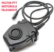 AIRSOFT TOMTAC PELTOR PTT BLACK 2 WAY RADIO SWITCH SORDINS COMTAC MOTOROLA 1 PIN
