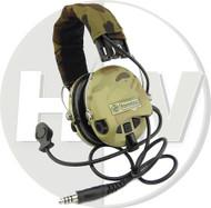 AIRSOFT TOMTAC SORDIN HEADSET MIC BOOM RADIO MSA DESIGN WOODLAND MULTICAM
