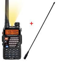 AIRSOFT 2 WAY DUAL BAND RADIO BAOFENG UV-5R + LONG WHIP AERIAL