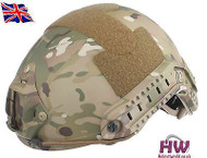 AIRSOFT MH TYPE OPS CORE FAST BASE JUMP HELMET MULTICAM MTP WITH ARC RAILS