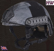 AIRSOFT MH TYPE OPS CORE FAST BASE JUMP HELMET KRYPTEK TYPHON WITH ARC RAILS