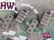Airsoft Af Core Ops Mich Tan Sand De Helmet Rail Clips Block Mounts Uk