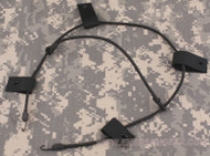 AIRSOFT AF CORE OPS MICH BLACK SWAT HELMET BUNGEE CORD NVG STROBE UK DELIVERY