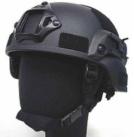 AIRSOFT MICH HELMET WITH RAILS TACTICAL BLACK FIBREGLASS UK