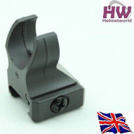AIRSOFT 20MM M4 IRON BATTLE HK416 RAIL METAL FRONT SIGHT BLACK ADJUSTABLE UK