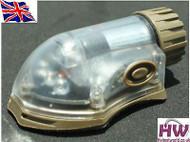 AIRSOFT LIGHT FLASHLIGHT IR BLUE HELMET MANTA STROBE TAN SAND DE UK