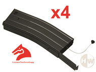 AIRSOFT M4 M16 SCAR METAL BLACK LONEX FLASH MAGAZINE MAG 360RDS ASG x4 PULL CORD