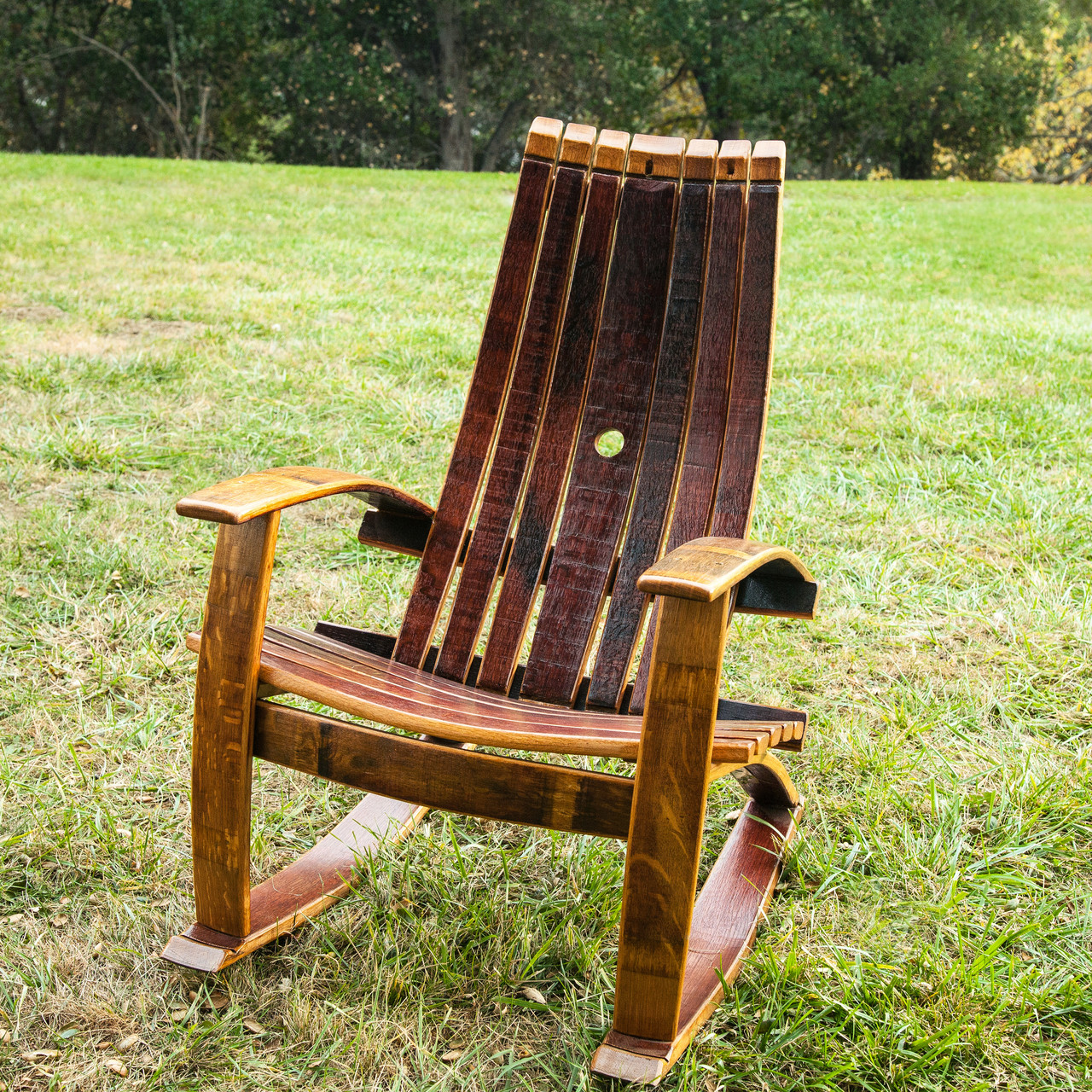 Rocking Chair With High Quality Cover Made Especially For The Chairs . Full resolution  img, nominally Width 1280 Height 1280 pixels, img with #6A3E1F.