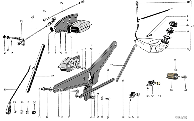 1955 Chevy Truck Transmission Linkage Diagram further Parts Illustrations together with Clutches Etc also Jeep Cj5 Clutch Diagram also 1949 Willys Jeepster Wiring Diagram. on jeep cj5 clutch linkage diagram