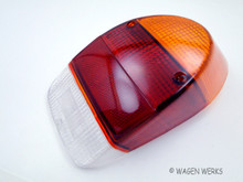 Tail Light Lens - Bug 1971 to 1972 - Amber Top - Left