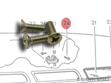 Pop-Out Window Latch Fasteners - Type 2 1955 to 1967