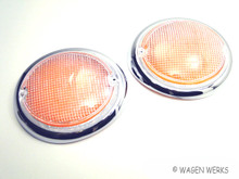 Turn Signal Lens - Type 2 1962 to 1967 - German - Pair