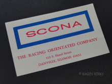 Vintage Racing Sticker - SCONA 1960s